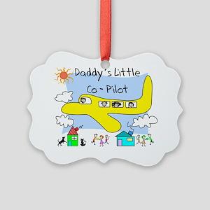 Daddys Little Copilot Picture Ornament