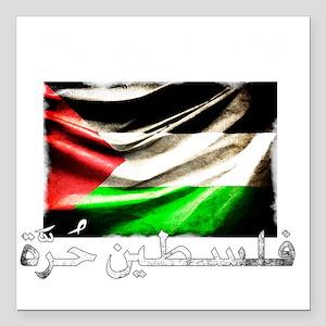 "free-palestine-grunge Square Car Magnet 3"" x 3"""