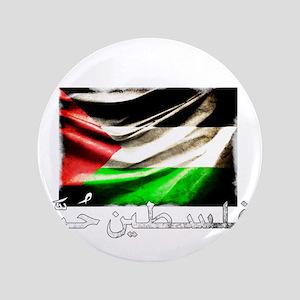 """free-palestine-grunge 3.5"""" Button"""