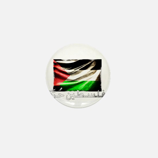 free-palestine-grunge Mini Button
