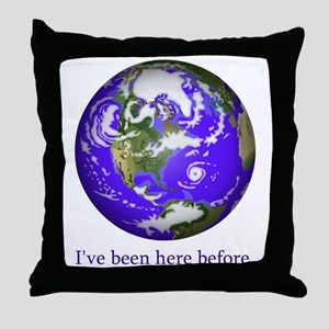 Been Here 2 Throw Pillow