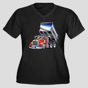 Pete357float Women's Plus Size Dark V-Neck T-Shirt
