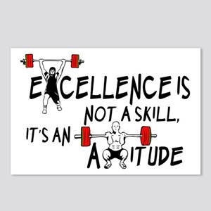 Excellence is not a skill Postcards (Package of 8)