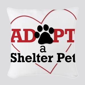 Adopt a Shelter Pet Woven Throw Pillow