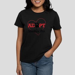 Adopt a Shelter Pet Women's Dark T-Shirt