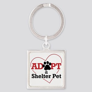 Adopt a Shelter Pet Square Keychain