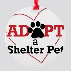 Adopt a Shelter Pet Round Ornament