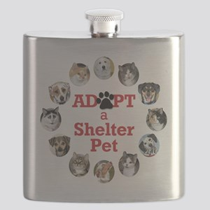 Adopt a Shelter Pet Flask