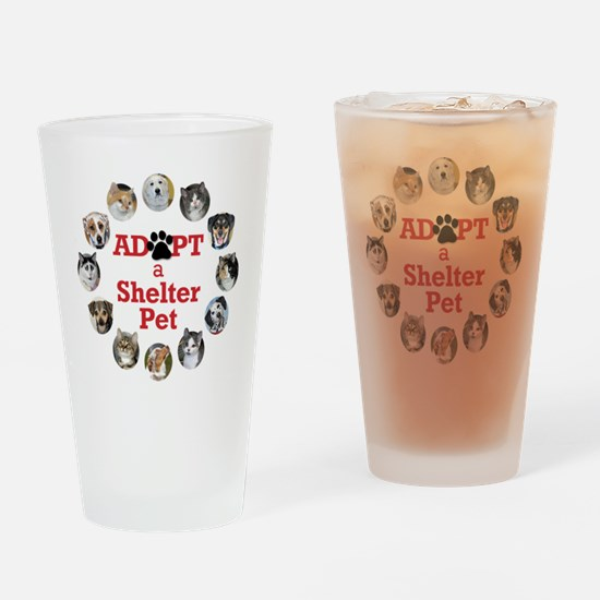 Adopt a Shelter Pet Drinking Glass