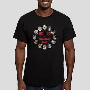 Adopt a Shelter Pet Men's Fitted T-Shirt (dark)