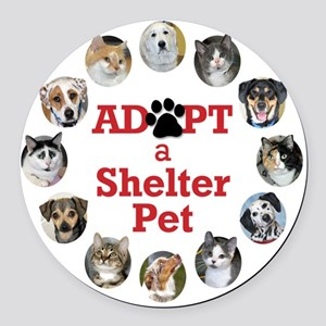 Adopt a Shelter Pet Round Car Magnet
