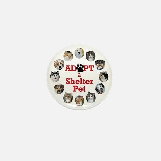 Adopt a Shelter Pet Mini Button