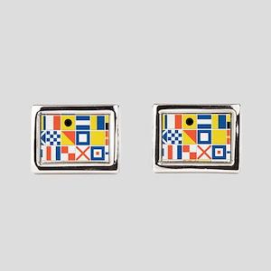 Nautical Flags Rectangular Cufflinks