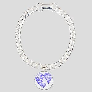 love_you_mom_blue Charm Bracelet, One Charm