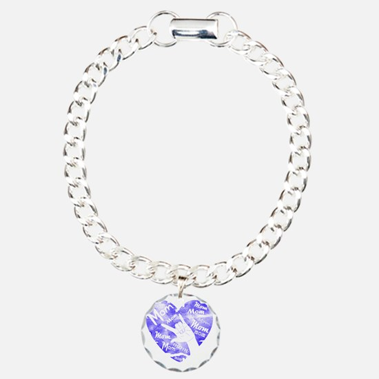 love_you_mom_blue Bracelet