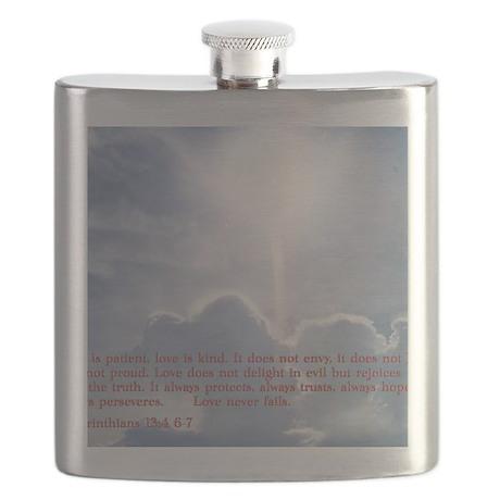 1 Corinthians 13-4 6 7 Clouds Flask
