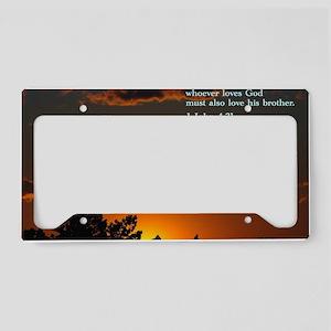 1 John 4-21  Sunset License Plate Holder
