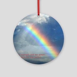 2 Samuel 22-33  Rainbow Round Ornament