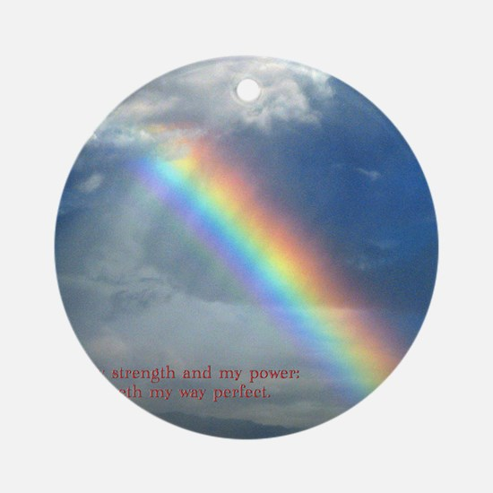 2 Samuel 22-33  Rainbow Round Ornament