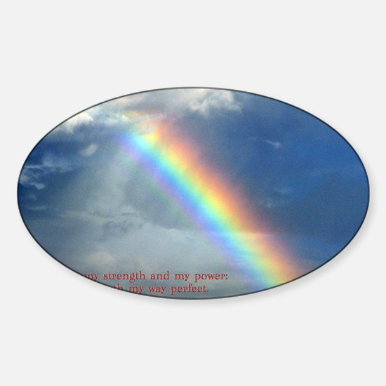 2 Samuel 22-33  Rainbow Sticker (Oval)