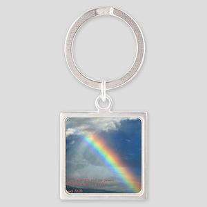 2 Samuel 22-33  Rainbow Square Keychain