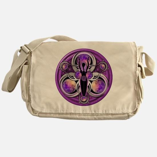 Goddess of the Purple Moon Messenger Bag