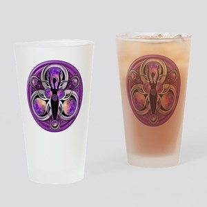 Goddess of the Purple Moon Drinking Glass