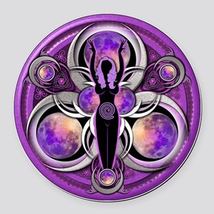 Goddess of the Purple Moon Round Car Magnet