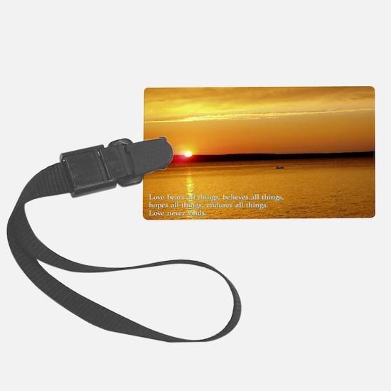 Corinthians 13-7 8  Sunset Luggage Tag