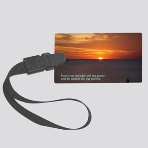 2 Samuel 22-33  Sunset Large Luggage Tag