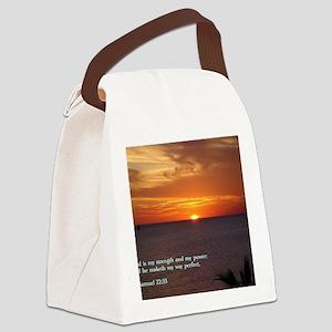 2 Samuel 22-33  Sunset Canvas Lunch Bag