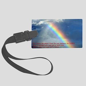 Jeremiah 29-11 Rainbow Large Luggage Tag