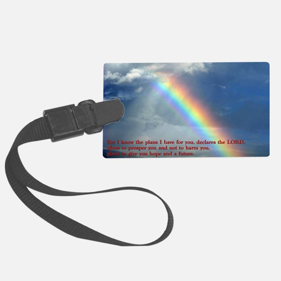 Jeremiah 29-11 Rainbow Luggage Tag