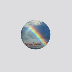 Jeremiah 29-11 Rainbow Mini Button