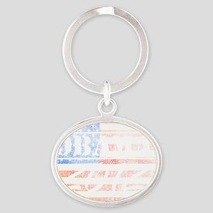 obama_2012 Oval Keychain