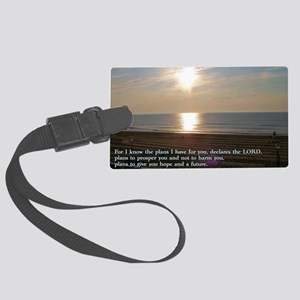 Jeremiah 29-11 Sunrise Large Luggage Tag