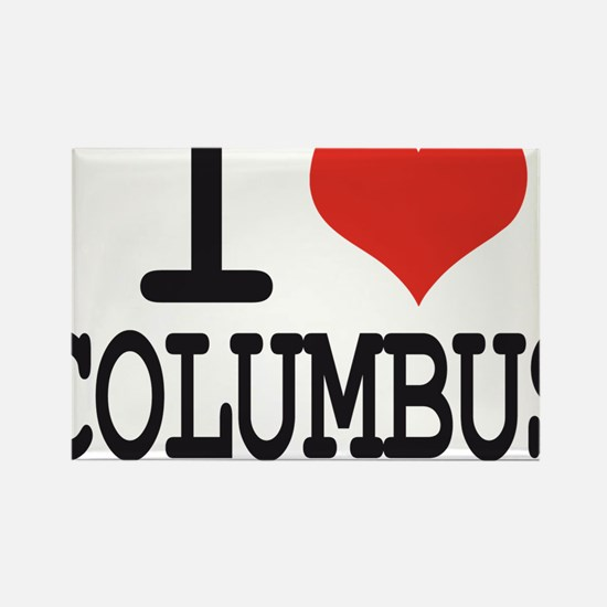 I LOVE COLUMBUS Rectangle Magnet