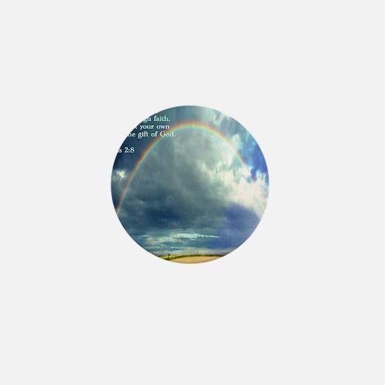Ephesians 2-8  Rainbow Mini Button