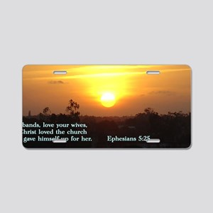 Ephesians 5-25  Sunset Aluminum License Plate