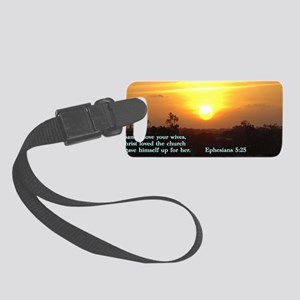 Ephesians 5-25  Sunset Small Luggage Tag