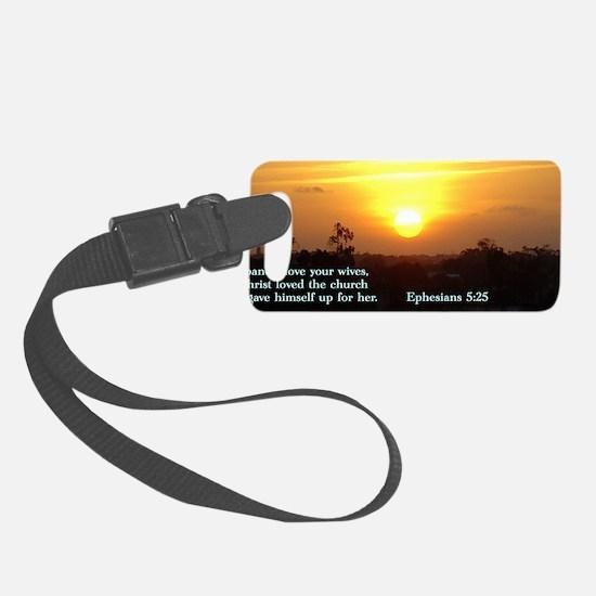 Ephesians 5-25  Sunset Luggage Tag