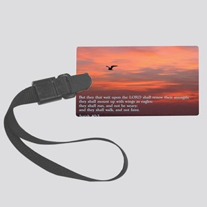 Isaiah 40-3 Sunrise Large Luggage Tag