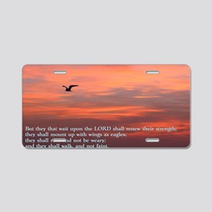 Isaiah 40-3 Sunrise Aluminum License Plate