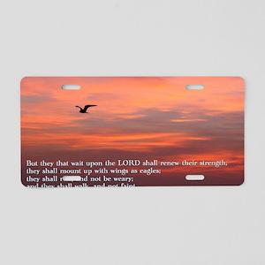 Isaiah 40-3 Sunrise Aluminum License Plate