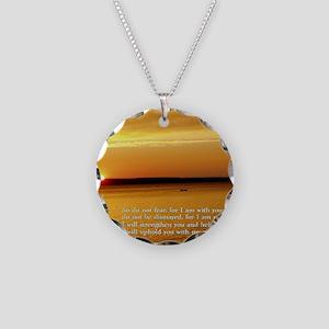 Isaiah 41-10  Sunset Necklace Circle Charm