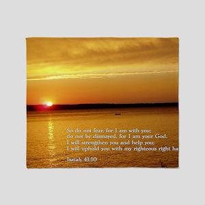Isaiah 41-10  Sunset Throw Blanket