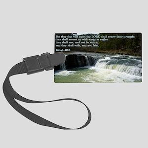 Isaiah 40-3 Waterfall Large Luggage Tag
