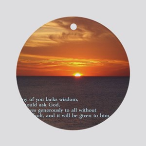 James 1-5  Sunset Round Ornament