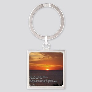 James 1-5  Sunset Square Keychain