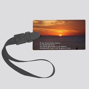 James 1-5  Sunset Large Luggage Tag
